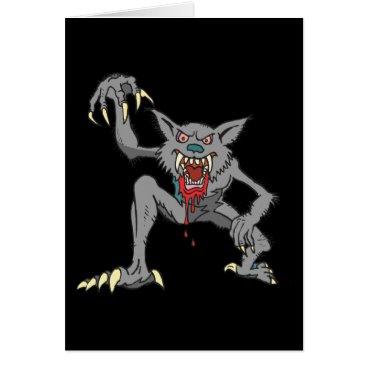 Halloween Themed Werewolf Note Card