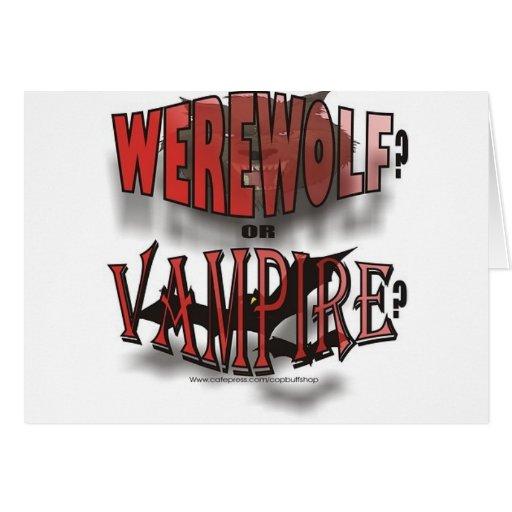 WEREWOLF OR VAMPIRE CARDS