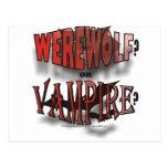 WEREWOLF OR VAMPIRE POSTCARD