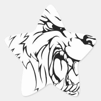 Werewolf or wolf character star sticker
