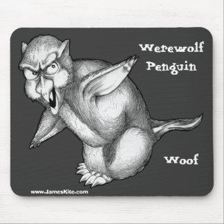 Werewolf Penguin: Woof Mouse Pad