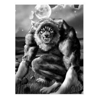 werewolf postcard