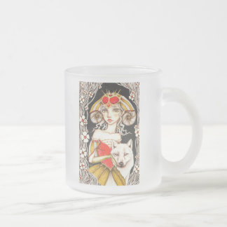 Werewolf Queen Frosted Glass Coffee Mug