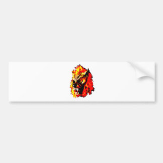Werewolf Red, Yellow, Black Bumper Sticker