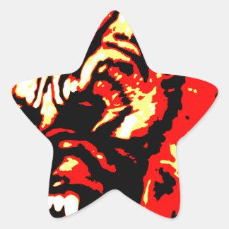 Werewolf Red, Yellow, Black Star Sticker