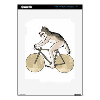 Werewolf Riding Bike With Full Moon Wheels Decal For iPad 3