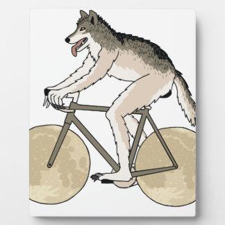 Werewolf Riding Bike With Full Moon Wheels Plaque