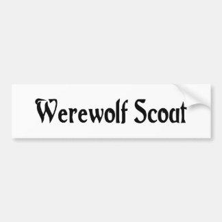 Werewolf Scout Bumper Sticker