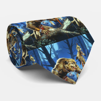 Werewolf Shaman Of The Forrest Tie