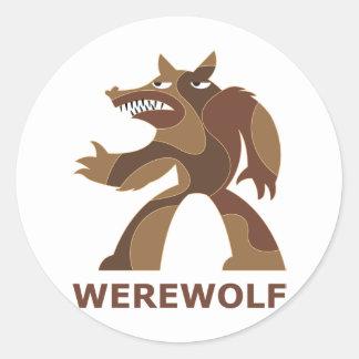 Werewolf Round Sticker