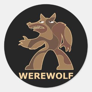 Werewolf Round Stickers