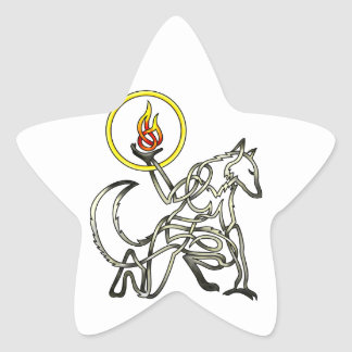 Werewolf Star Sticker