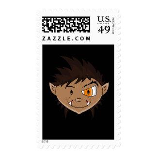 Werewolf Teen Terror Postage Stamp