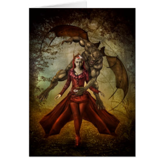 Werewolf Vampire Greeting Cards
