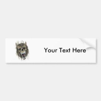 Werewolf ~ Wolf Monster Fantasy Art Bumper Sticker