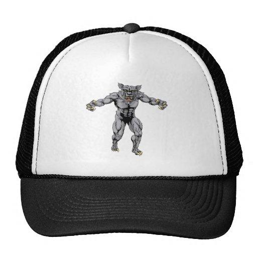 Werewolf wolf scary sports mascot hat