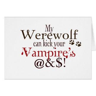 werewolf word art card