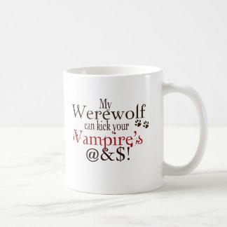 werewolf word art coffee mug