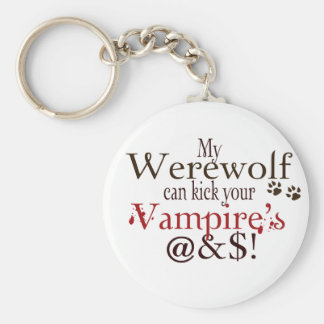 werewolf word art keychain