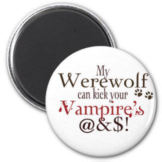 werewolf word art magnet