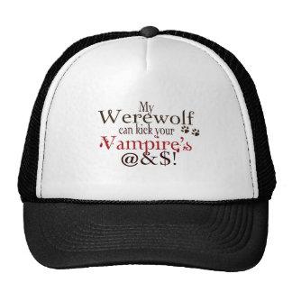 werewolf word art trucker hat