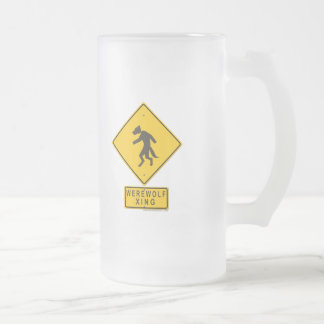 Werewolf XING Frosted Glass Beer Mug