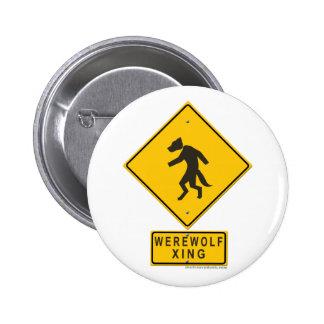 Werewolf XING Pinback Button