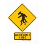Werewolf XING Postcard
