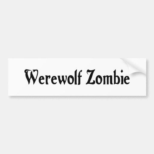 Werewolf Zombie Sticker Car Bumper Sticker