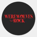 Werewolves Rock Classic Round Sticker