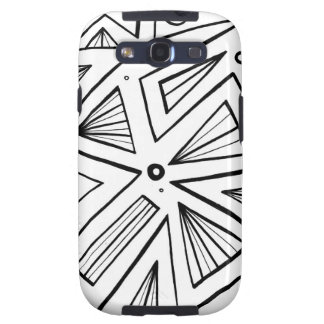 Werlinger Abstract Expression Black and White Galaxy S3 Cover