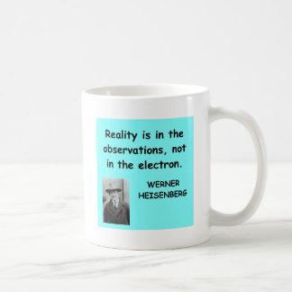 Werner Heisenberg quote Classic White Coffee Mug