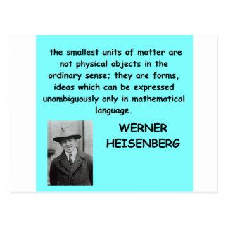 Werner Heisenberg quote Postcard