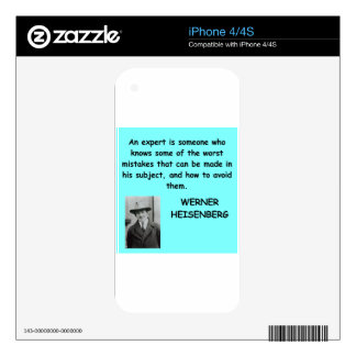 Werner Heisenberg quote Decal For The iPhone 4S