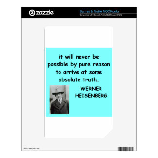 Werner Heisenberg quote Decal For NOOK Color