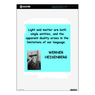 Werner Heisenberg quote Decal For The iPad 2