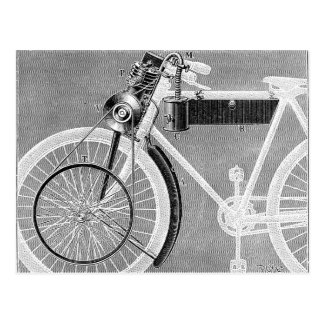 Werner Motorcycle, 1898 Postcard