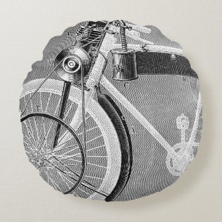 Werner Motorcycle, 1898 Round Pillow