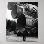 Werner von Bran and the Saturn V rocket Print
