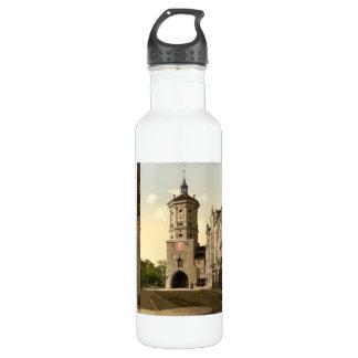 Wertachbrucker Tor, Augsburg, Bavaria, Germany Water Bottle