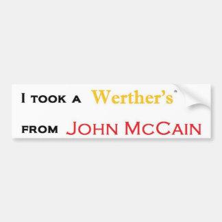 Werther de la pegatina para el parachoques de McCa Pegatina Para Auto