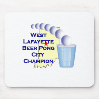 Wes Lafayette Beer Pong Champion Mousepads