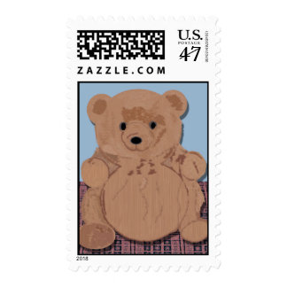 Wes T Bear Teddy Bear Stamp