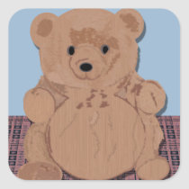 Wes T Bear Teddy Bear Sticker