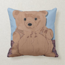 Wes T Bear Throw Pillow
