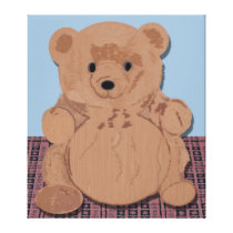 Wes T Bear Wrapped Canvas