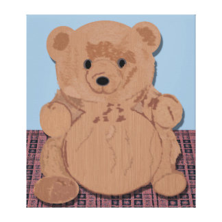 Wes T Bear Wrapped Canvas Canvas Print
