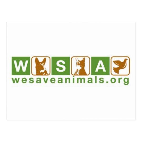 WeSaveAnimals.org Postcard