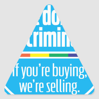 wesell_blue triangle sticker