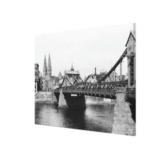Weser Bridge, Bremen, c.1910 Canvas Print
